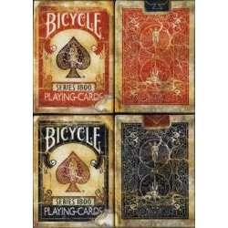54 Cartes Bicycle Vintage 1800 Marquées Rouge ou Bleu