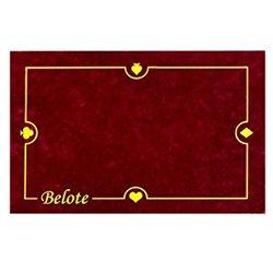 Tapis : 40x60cm - Belote Bordeaux