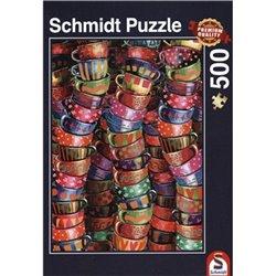 Puzzle : 500 pièces - Tasses Multicolores