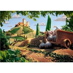 Puzzle : 1000 pièces - Paysage de Toscane