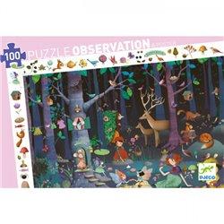 Puzzle : 100 pièces - La forêt enchantée