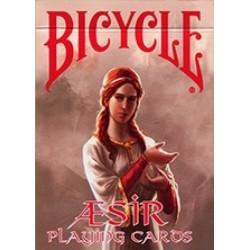 54 Cartes Bicycle Aesir Viking Gods Rouge