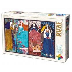 Puzzle : 2000 pièces : Les Princesses
