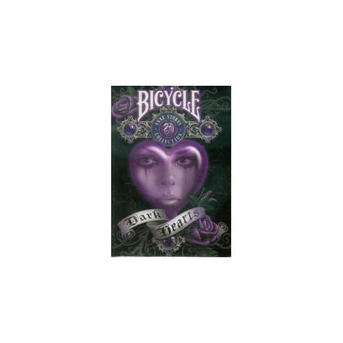 54 Cartes Bicycle Ann Stock Dark Hearts