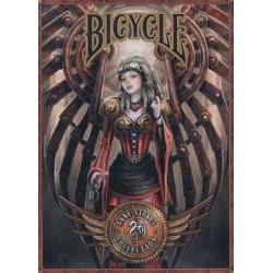 54 Cartes Bicycle Ann Stock Steampunk