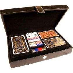 Coffret : Multijeux de Cartes, Tarot et Jetons 4As