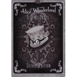 54 Cartes Bicycle Alice of Wonderland : Argent