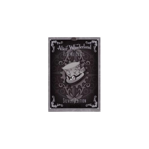54 Cartes Bicycle Alice of Wonderland : Argent
