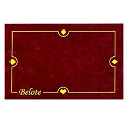 Tapis : 40x60cm - Belote Bordeaux