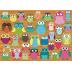 Puzzle : 500 pièces - Collage de Hibou