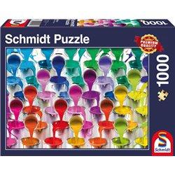 Puzzle : 1000 pièces - Cascade de pots de peinture
