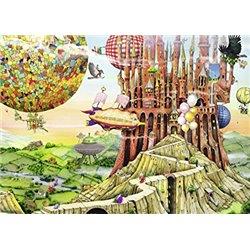 Puzzle : 1000 pièces - La Maison Volante - Colin Thompson