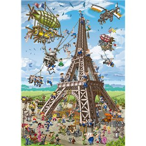 Puzzle : 1000 pièces - Cartoon Tour Eiffel