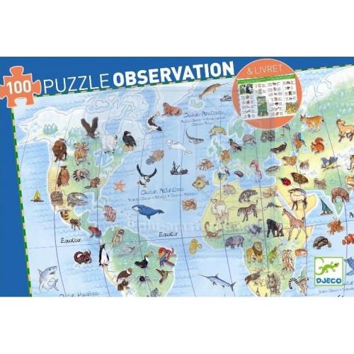 Puzzle : 100 pièces - Animaux et son Livret