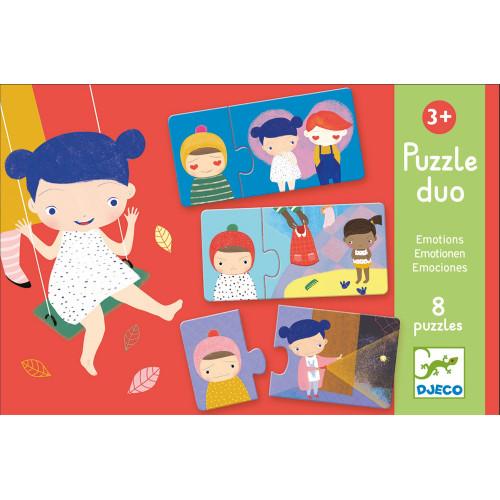Puzzle : 16 pièces - duo émotions
