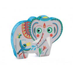 Puzzle : 24 pièces -Haathee, éléphant d'Asie
