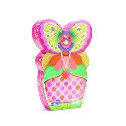 Puzzle: 36 pièces - La demoiselle papillon
