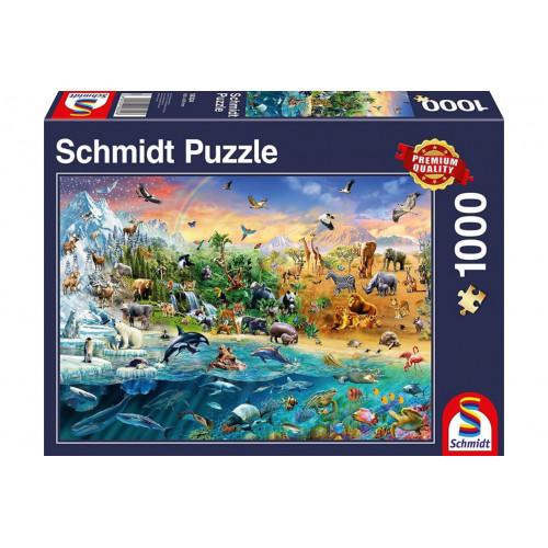 Puzzle : 1000 pièces - Le Monde des Animaux