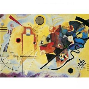 Puzzle : 1000 pièces - Kandinsky Jaune - Rouge - Bleu