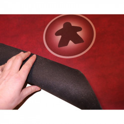 Tapis meeple rouge