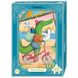 Puzzle Mini : 60 pièces - Croco Beach