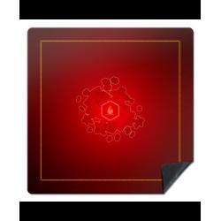 Tapis : 92x92cm Meeple Rouge