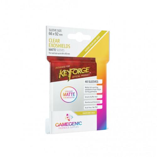 Protège Cartes : 64x90mm Keyforge - Dos Mat - Gamegenic