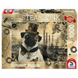 Puzzle : 1000 pièces - Chien Steampunk