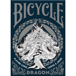 54 Cartes Bicycle Dragon Silver