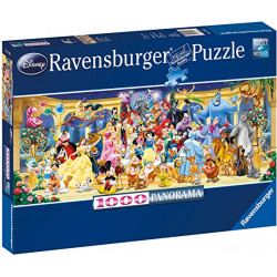 Puzzle 1000 pièces : Photo de groupe Disney (Panorama)