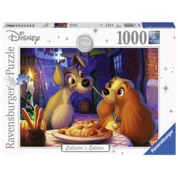 Puzzle 1000 pièces : La Belle et le Clochard (Collection Disney)