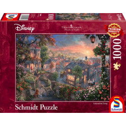 Puzzle : 1000 pièces - Disney La Belle et le Clochard