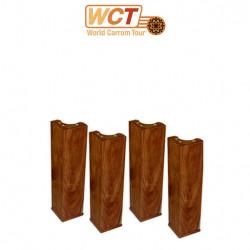 Carrom : Lot de 4 pieds de table basse (47 cm)
