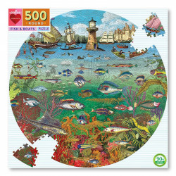 Puzzle : 500 pièces rond - Fish & Boats