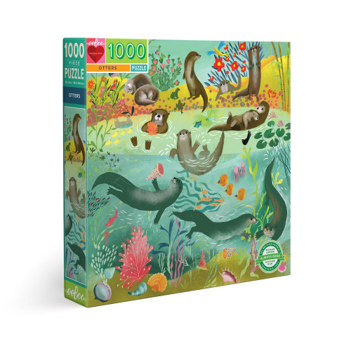 Puzzle : 1000 pièces - Loutres