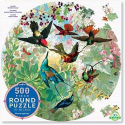 Puzzle : 500 pièces rond - Hummingbirds