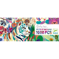 Puzzle : 1000 pièces - Rainbow tigers
