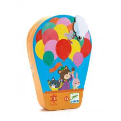 Puzzle : 16 pièces - La montgolfière