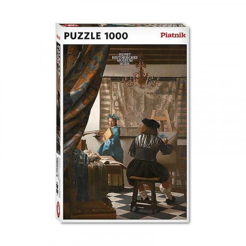 Puzzle : 1000 pièces - Vermeer - Studio d'artiste