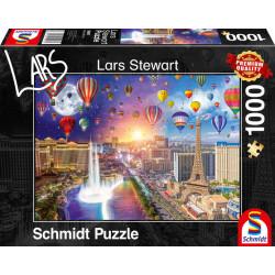 Puzzle : 1000 pièces - Vegas - L. Stewart