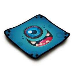 Piste de dés en néoprène - Happy Cyclope Blue Monster