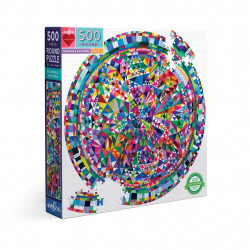 Puzzle : 500 pièces rond - Triangle Pattern