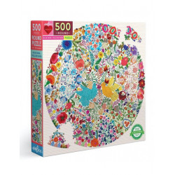 Puzzle : 500 pièces rond - Blue Bird Yellow Bird