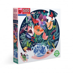 Puzzle : 500 pièces rond - Still life with flowers