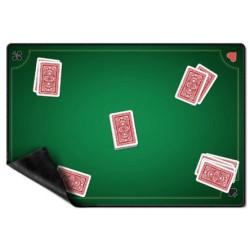 Tapis de cartes : 60x40cm - Belote vert