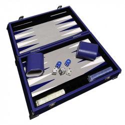 Backgammon Prestige 30 cm Bleu