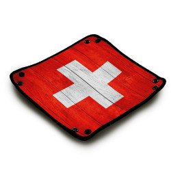 Piste de dés : Wood Swiss Flag