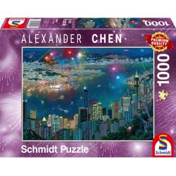 Puzzle : 1000 pièces - Chen Hong-Kong