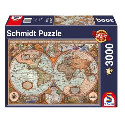 Puzzle : 3000 pièces - Mappemonde antique