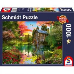 Puzzle : 1000 pièces - Le Moulin à Eau
